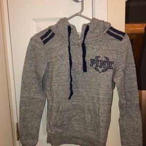 grey victoria's secret pink sweatshirt